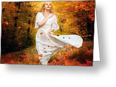 Path Of Fall Greeting Card
