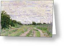 Path Through The Vines At Argenteuil Greeting Card