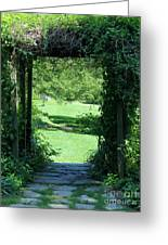 Path To The Green Greeting Card