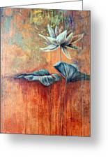 Patina Lotus Greeting Card