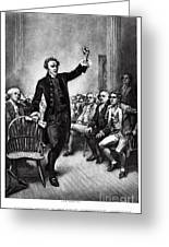 Patrick Henry, American Patriot Greeting Card by Photo Researchers