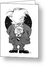 Patrick Moore, British Astronomer Greeting Card