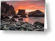 Patrick's Point Sunset Greeting Card