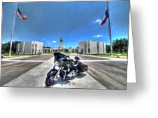 Patriot Guard Rider At The Houston National Cemetery Greeting Card
