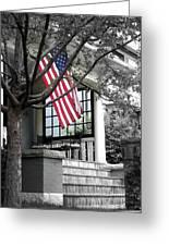 Patriot Porch Greeting Card