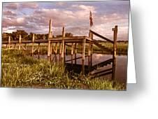 Patriotic Dock Greeting Card