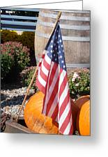Patriotic Farm Stand Greeting Card