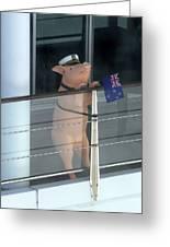 Patriotic Pig Greeting Card