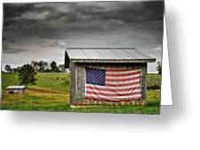 Patriotic Shed Greeting Card