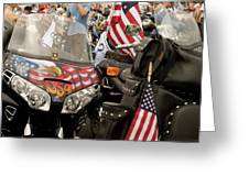 Patriotism Rides Greeting Card