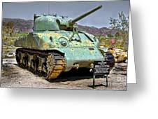 Patton M4 Sherman Greeting Card