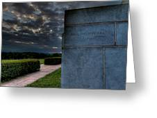 Paul Cret Gettysburg Monument Greeting Card by Andres Leon