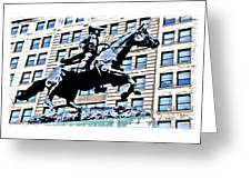 Paul Revere Galloping Statue Greeting Card