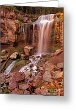 Paulina Falls Sunset Greeting Card