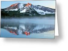 Paulina Lake Reflections Greeting Card
