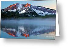 Paulina Peak Reflections Greeting Card