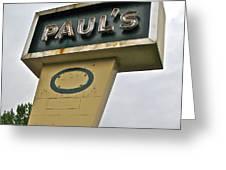 Paul's O Greeting Card