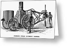 Paving Machine, 1879 Greeting Card