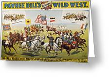 Pawnee Bill Poster, 1895 Greeting Card