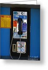 Pay Phone . 7d15934 Greeting Card by Wingsdomain Art and Photography