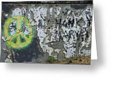 Peace 2012 #1 Greeting Card by Todd Sherlock
