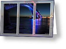 Peace Bridge 01 Triptych Series Greeting Card