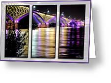 Peace Bridge 02 Triptych Series Greeting Card
