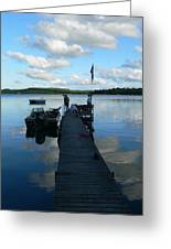 Peace On The Lake Dock Greeting Card