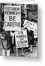Peace Protest, 1962 Greeting Card