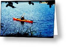 Peaceful Canoe Ride Ll Greeting Card