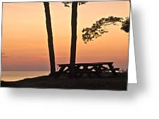 Peaceful Evening Picnic 7109 Greeting Card