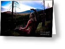 Peaceful Meditation - Nude Greeting Card