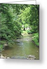 Peaceful Mountain Stream Greeting Card