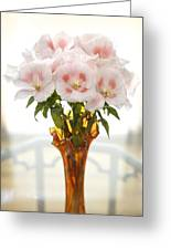 Peachy Gladiolas Greeting Card