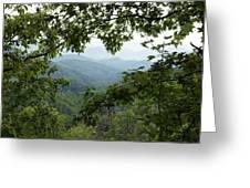 Peak At The Mountains Greeting Card