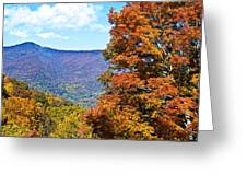 Peaks And Colors Greeting Card