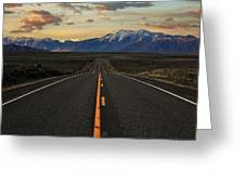 Peaks To Craters Highway Greeting Card