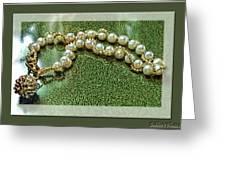 Pearl Bracelet Greeting Card