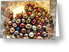 Pearls In A Pile  Art Greeting Card