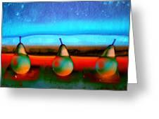 Pears On Ice 01 Greeting Card