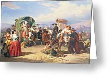 Peasants Of The Campagna Greeting Card