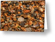Pebbles And Stones On The Beach Greeting Card
