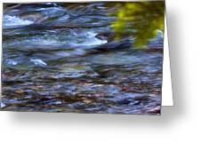 Pebbles Under Icicle Creek Washington State Greeting Card