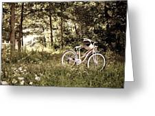 Pedaling To The Past Greeting Card