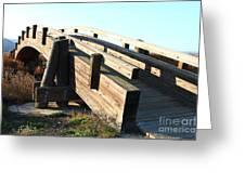 Pedestrian Bridge At Martinez Regional Shoreline Park In Martinez California . 7d10513 Greeting Card