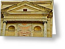 Pediment Of Oldest High School In France Greeting Card