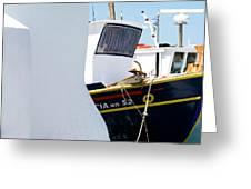 Peek-a-boat Greeting Card