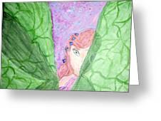 Peeking Fairy  Greeting Card by Elizabeth Arthur