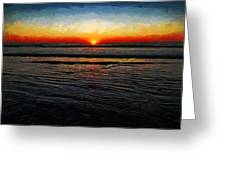 Peeking Over The Horizon Greeting Card