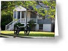 Peers House And Cannon Appomattox Court House Virginia Greeting Card